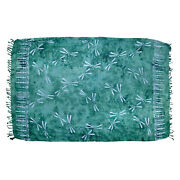 Sarong/pareo/wrap - Teal With Blue Dragonflies - Handmade In Bali - Hary Dary