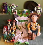 Toy Story Huge Toy Lot - Costume Action Figures Plush - Woody Buzz Rex Jessie ..