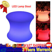 16 Cube Led Light Stool Garden Patio Yard Table Chair Seat Outdoor Indoor W/rc