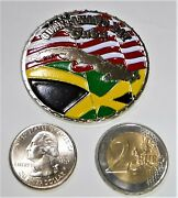 Challenge Coin - Usn - Naval Station Guantanamo Bay Weapons Dept - Jamaican Flag