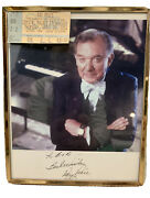 Ray Price 2004 Autographed 8andrdquox10andrdquo Photo In Frame With Crystal Palace Ticket Stub