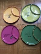 Dept. 56 Time To Celebrate Set Of 4 Whimsical Snack Plates 7.5 Diet Food Cute