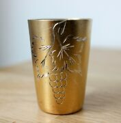 Imperial Russian Gold Plated Sterling Silver 875 Vodka Shot Glass Cup Engraved