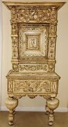 1790 Highly Carved European Court Cabinet - Castle - Medieval Style - Gothic