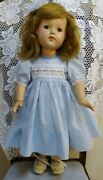 """Vintage 1940s Effanbee Doll Large 27"""" Little Lady Anne Shirley Composition"""