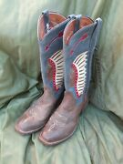 Rios Of Mercedes Kemosabe Distressed Bison Indian Inlay Multi Color Boots 8b