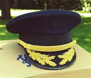 Army General Officer Uniform Cap Fire Chief Fire Marshal Police Chief Commander