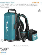 Makita Pdc01 For Lxt, Lxt X2 Tools Portable Backpack Power Supply Brand New