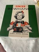 Authentic Vintage Singer Sewhandy Model 20 20-10 Childand039s Sewing Machine W/ Box