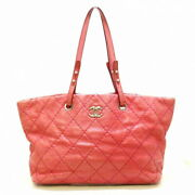 On The Road Tote Bag Silver Fittings Pink Vintage Calf _58923