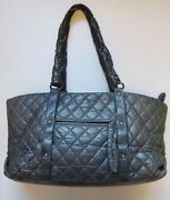 Shoulder Bag Tote A4 Leather Commuting Material Business Back Gray _59086