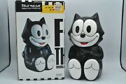 Vintage 1994 Felix The Cat Cookie Jar In Box Rare Free Shipping