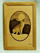Howling Wolf Hudson River Inlay Marquetry Nelson Vintage