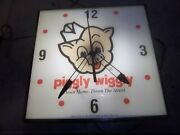 Vintage Lighted Pam Clock Piggly Wiggly    Gas Oil Neon