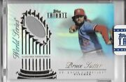 2012 Topps Tribute World Series Game-used Swatch Bruce Sutter Cardinals 55/99