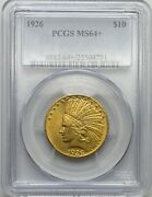 1926 10 Gold Indian Head Gold Eagle Ms64+ Pcgs Mint State