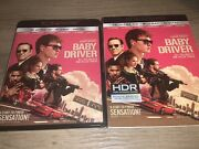 Baby Driver 4k Uhd 2017 Includes Oop Slipcover Edgar Wright Ships In Box