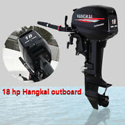 2stroke 18hp Outboard Motor Engine Fishing Boat Water Cooled 13.2kw Short Shaft