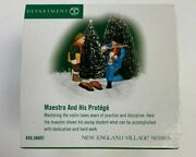 Dept 56 New England Village Accessory - Maestro And His Protege Violin Player