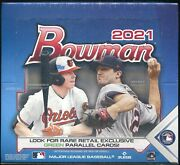 2021 Bowman Baseball Cards Factory Sealed 24 Pack Retail Box 12 Cards Per Pack