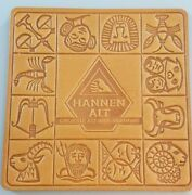 6 Vintage Hannen Alt Leather Zodiac Beer /drink Coasters Made In Germany