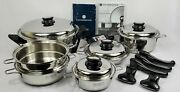 Saladmaster 316ti Titanium Stainless Waterless Cookware And Electric Skillet Usa