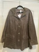 J. Jill Heritage Tumbled Cord Coat, Color Taupe, Size 3x New