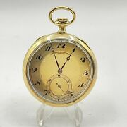 1916and039s Vacheron And Constantin 18k Solid Gold 49mm Pocket Watch