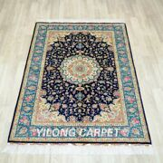4and039x6and039 Handmade Silk Carpet Floral Living Room Oriental Floral Area Rug Tj216a