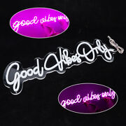 110v Led Neon Signs Good Vibes Only Acrylic Art Wall Lights For Beer Bar Club Us