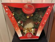 Disney Store Exclusive Mickey Mouse Christmas Light Up Wreath With Ornaments