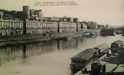 Angers France Antique Postcard Early 1900s Rare Castle River Ask Dog Soap Boat