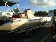 1996 River Cruise 24rc 24ft Pontoon Boat/party Barge/ Work Barge No Trailer