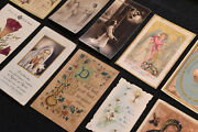 Lot Of 40 French Antique,vintage Holy Prayer Cards