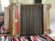 Antique Paolo Soprani Buttons Accordion Made In Italy