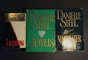 3 Danielle Steel Books Lighting, Jewels, And No Greater Love