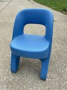 Blue Step 2 Criss Cross Child Plastic Chunky Chair For Table Playhouse Kitchen