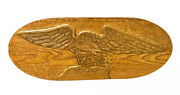 """Antique Excellent Condition Folk Art Hand Carved Wood,american Eagle 30"""" W,13"""" H"""