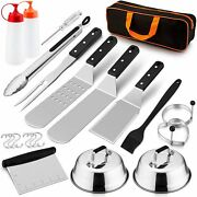 14 Pcs Grill Accesories Set Barbecue Tool Outdoor Bbq Grill Tool Kit