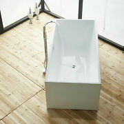 Acrylic 67 Freestanding Bathtub Contemporary Soaking Tub With Overflow And Drain