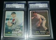 1957 Topps Del Crandall And Dick Groat Autographed Cards Psa Authenticated