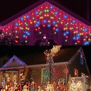 96-4800led Christmas Fairy Icicle Curtain Lights Lamp Xmas Party In/outdoor Us