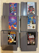 Lot Of 6 Nes Nintendo Video Games From 1980s - Contra, Spy Vs Spy And More