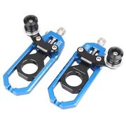 Blue Left Right Chain Adjuster Tensioners Spool Fit Yamaha Yzf R1 2004 2005
