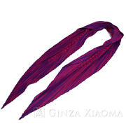 Hermes Pleat Scarf Silk Purple Discontinued Secondhand _62162