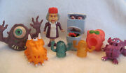 Vintage Real Ghostbusters Lot - Granny Fearsome Flush Bug Eye Shooter Mini Traps