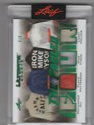 Fabled Four 2021 Leaf Ultimate Emerald Quad Patch Ali/patterson/tyson/holmes 3/3