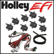 Holley Efi Big Wire Coil-near-plug Smart Coil Kit V8 Applications Includes