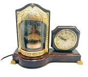 Vintage Ballerina United Electric Clock Co. Model 870 Lighted Animated And Music