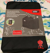Weber Performer Premium And Deluxe 22 Charcoal Grill Cover- Black 7152